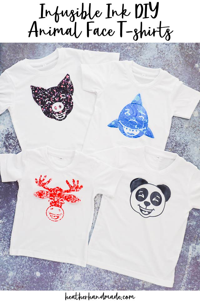 Infusible Ink DIY Animal Face T-shirts