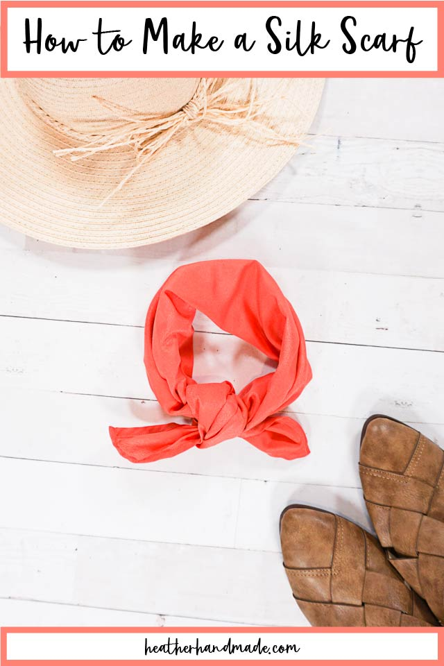 How to Make a Silk Scarf