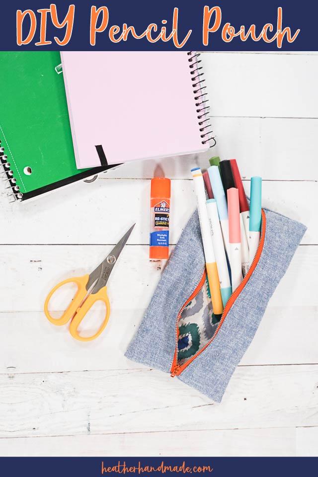 Easy DIY Pencil Pouch
