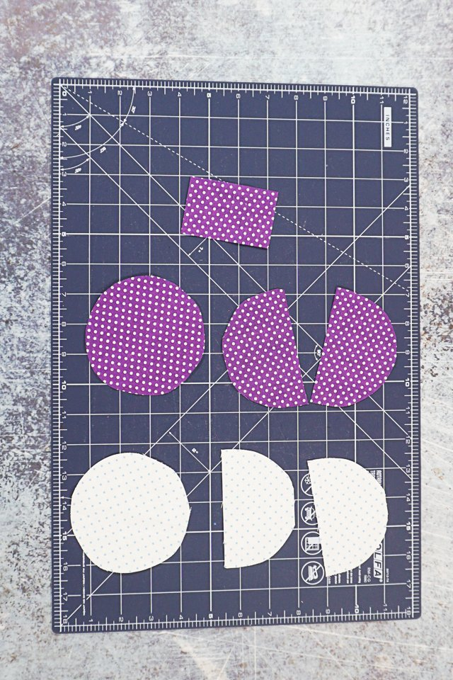 circle zipper pouch pattern pieces