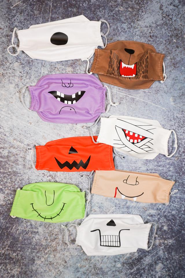 halloween fabric masks
