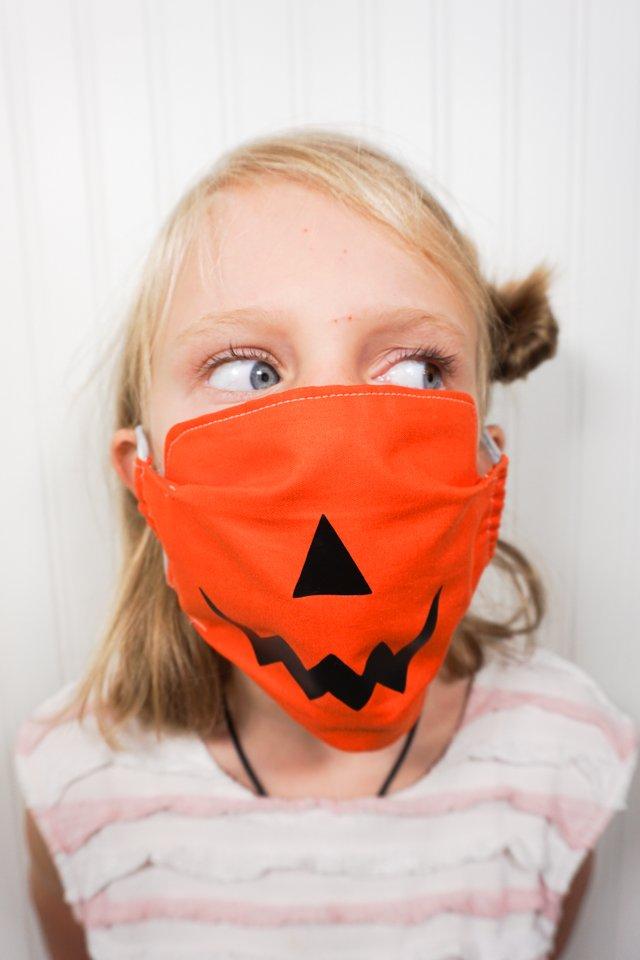 pumpkin svg face mask