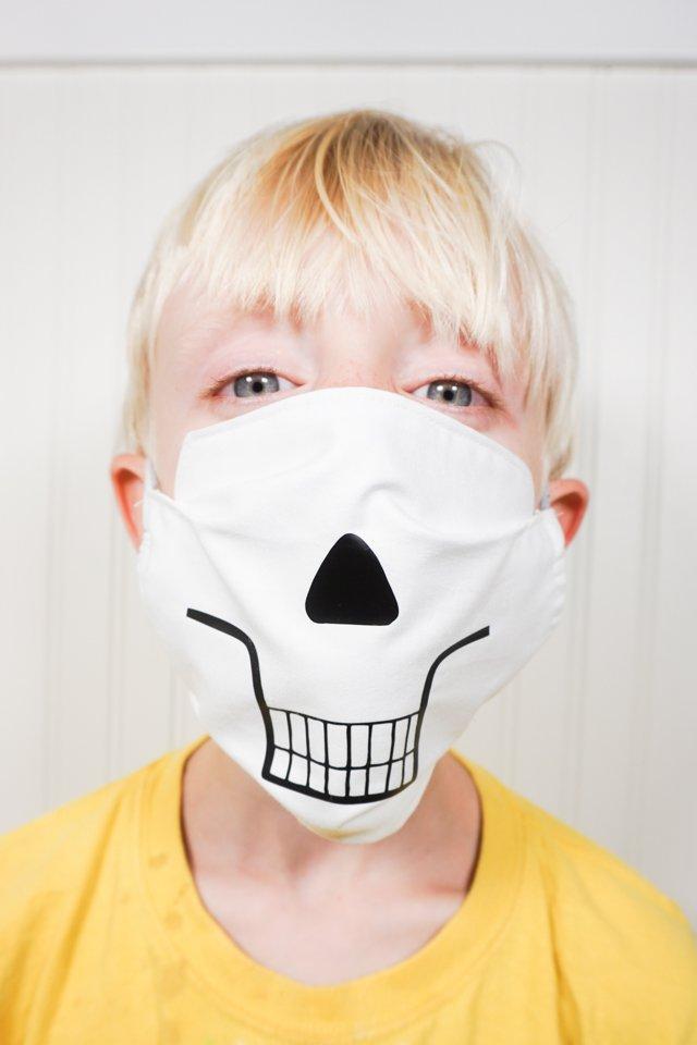 skeleton svg face mask