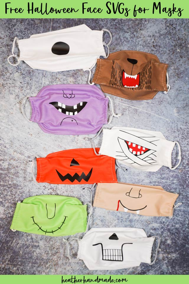 Free Halloween Face SVG Cut Files for Masks
