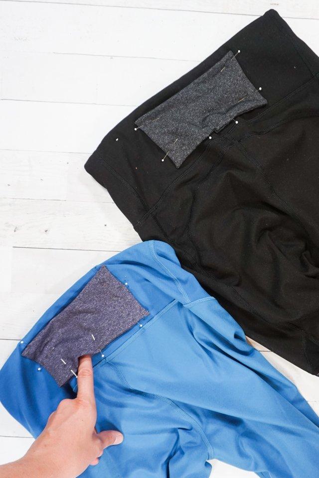 pin below back waistband