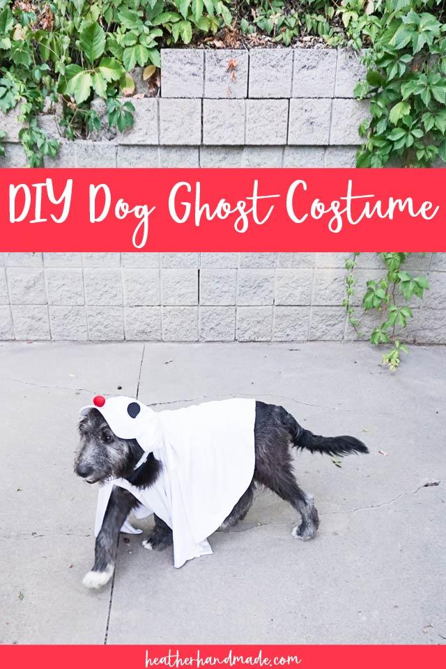diy dog ghost costume