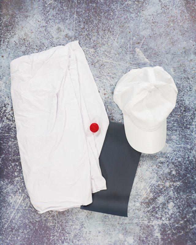 diy dog ghost costume supplies
