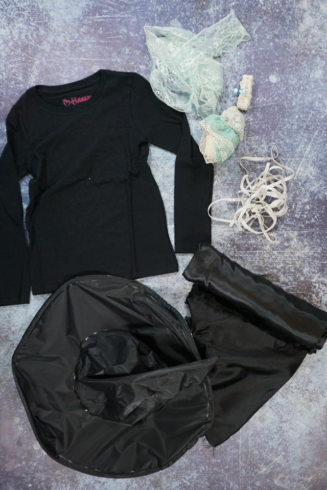 diy witch costume supplies