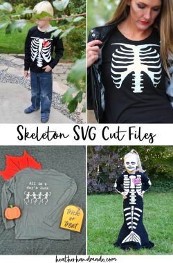 6 Skeleton SVG Cut Files