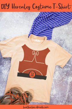 diy hercules costume t-shirt