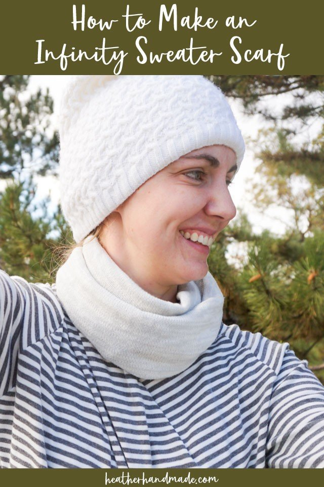 How to Make an Infinity Sweater Scarf