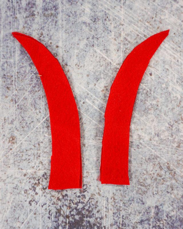 cut out four red felt antennae