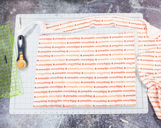 cut two rectangles for each placemat