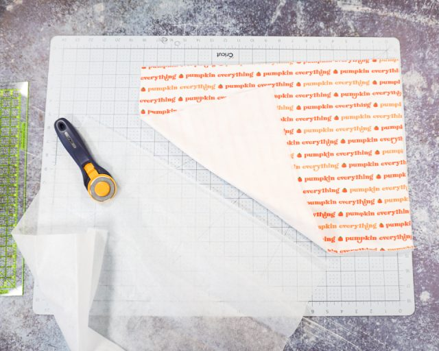 cut interfacing for back and front