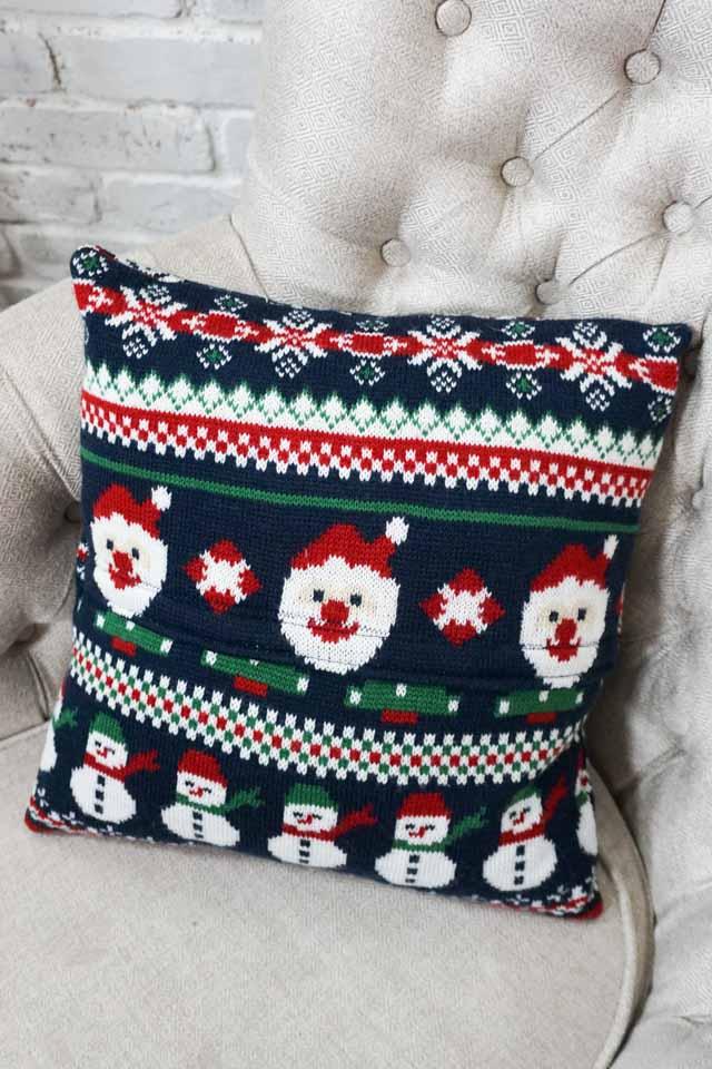 DIY Christmas Sweater Pillow