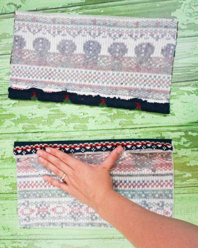 fold back edges over 1 inch