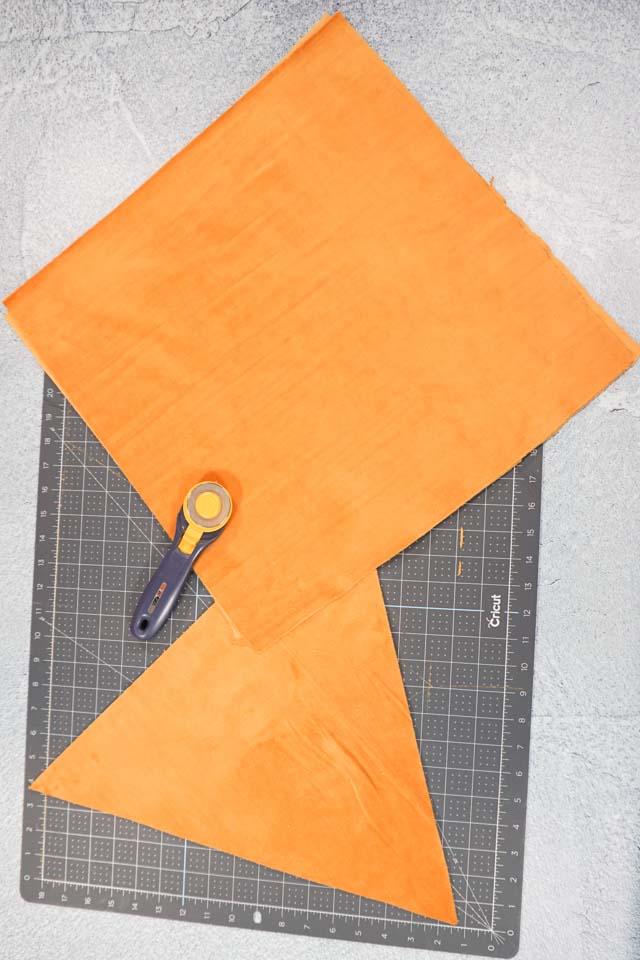 cut orange fabric