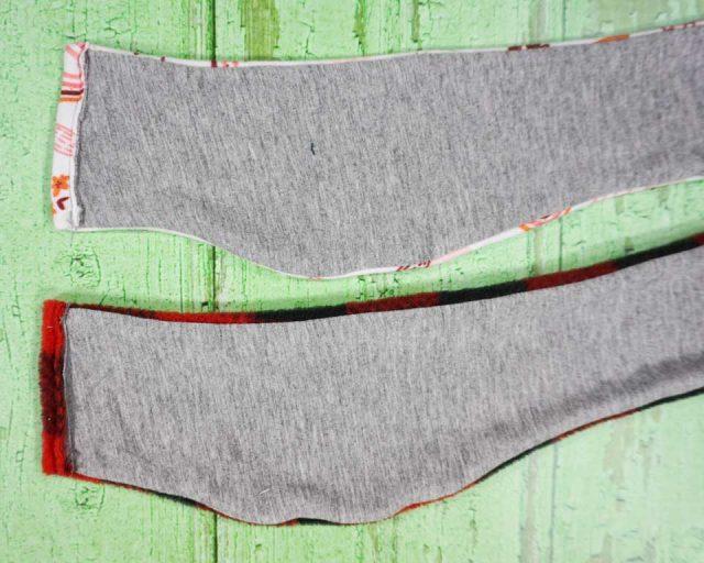 fold edge over 1/2 inch