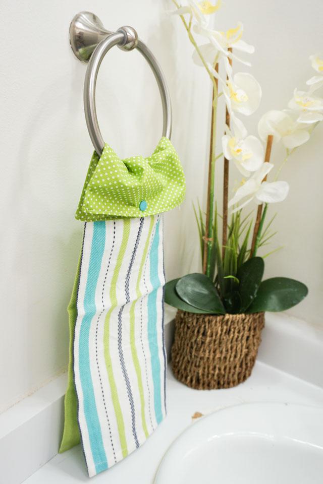 free hanging kitchen towel sewing pattern