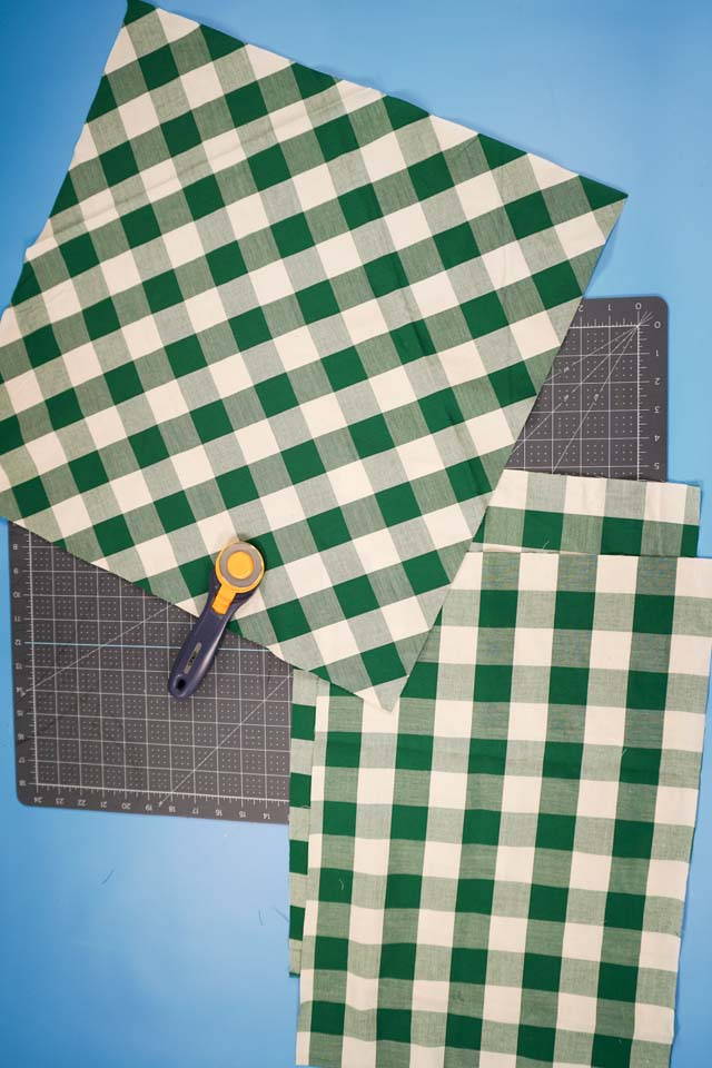 cut square and two rectangles