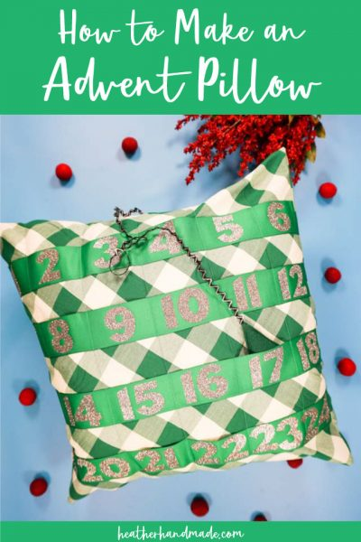 how to make an advent pillow
