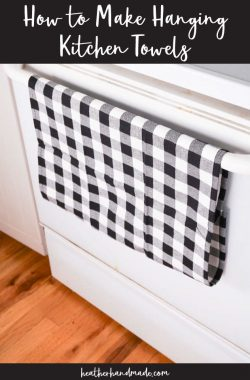 How to Make Hanging Kitchen Towels
