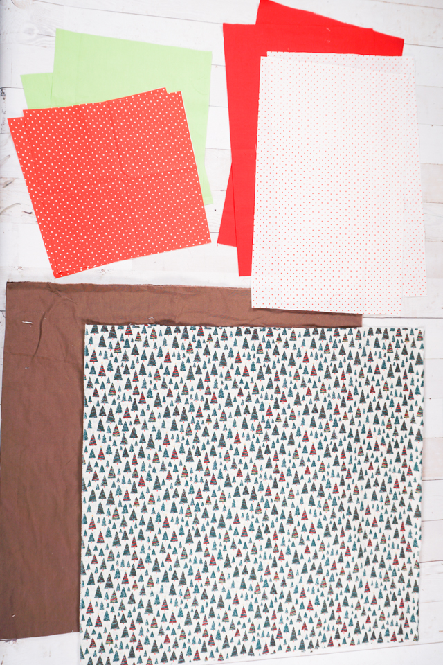 fabric rectangles for lined drawstring bag