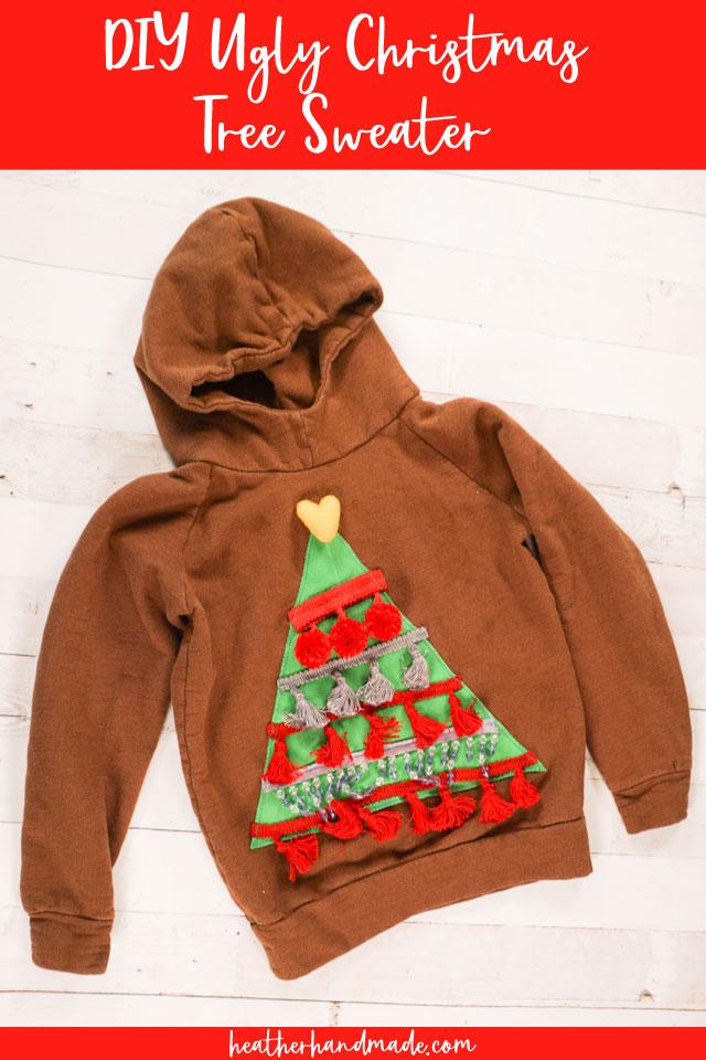 DIY Ugly Christmas Tree Sweater