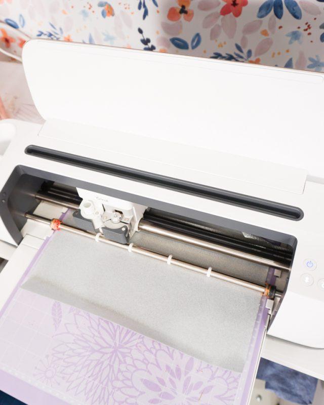 cricut maker cutting glitter iron-on vinyl