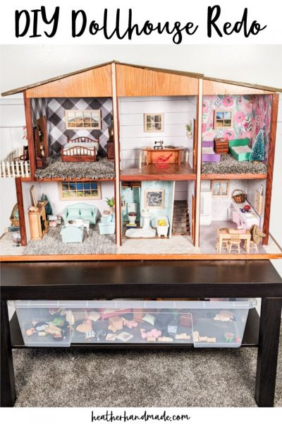 diy redo dollhouse