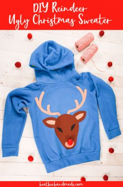 DIY Reindeer Ugly Christmas Sweater