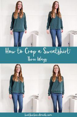 how to crop a sweatshirt