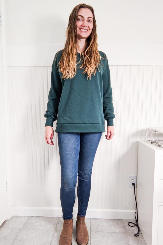 crop sweatshirt before