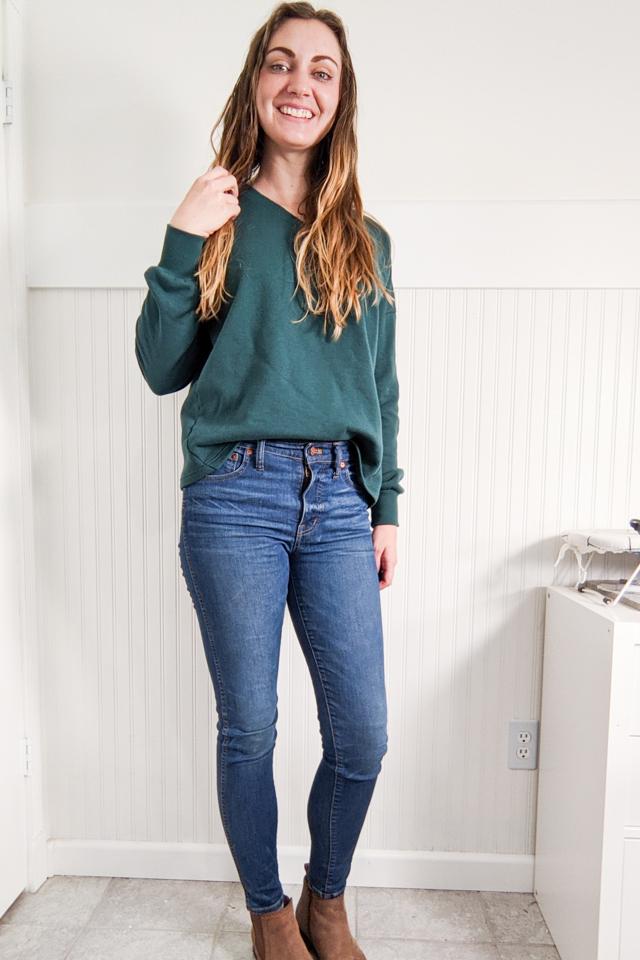 crop sweatshirt with hem
