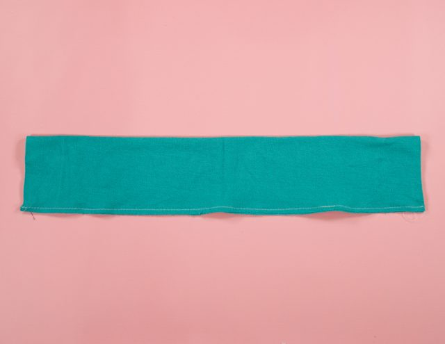 fold in half long ways and sew long edge