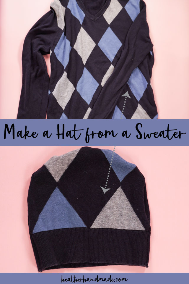 How to Make a Hat out of a Sweater