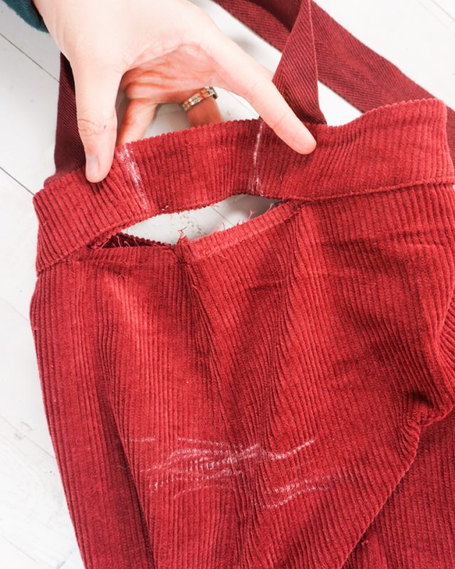 seam rip waistband