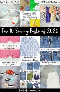 Top 10 Sewing Posts of 2020