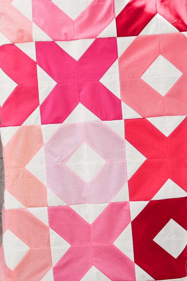 sew blocks into rows