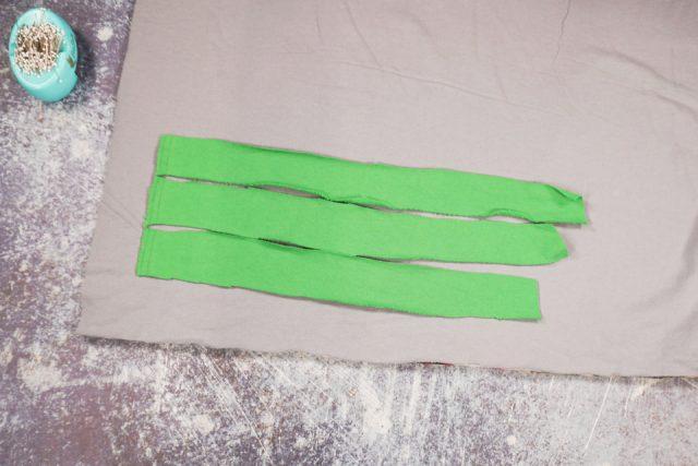 cut three strips