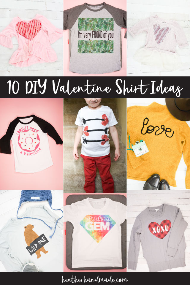 10 DIY Valentine Shirt Ideas
