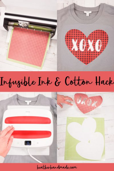 infusible ink and cotton hack