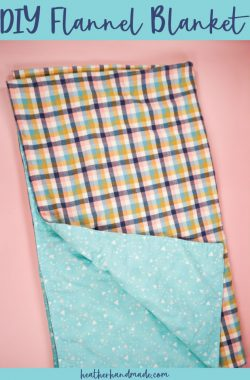 diy flannel blanket