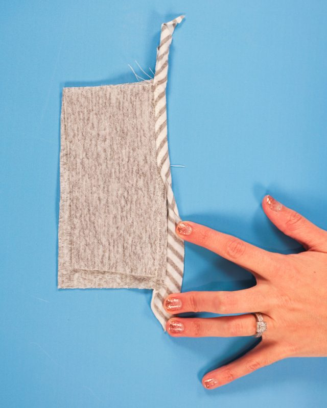 finish edges with knit bias binding