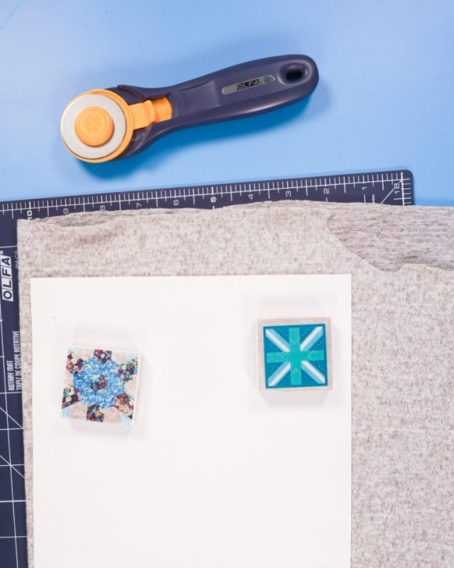 cut with rotary cutter and cutting mat