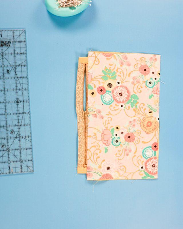 press fabric away from zipper