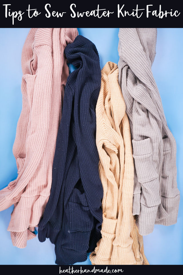 tips to sew sweater knit fabric