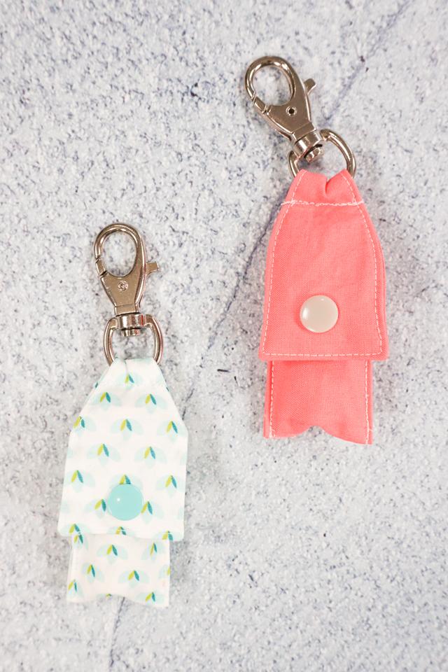 free chapstick holder keychain pattern