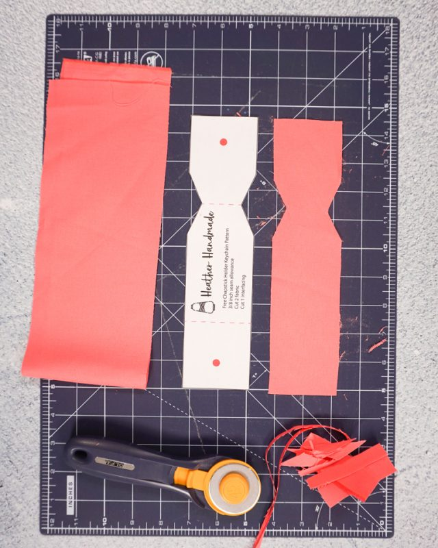 cut out fabric pieces