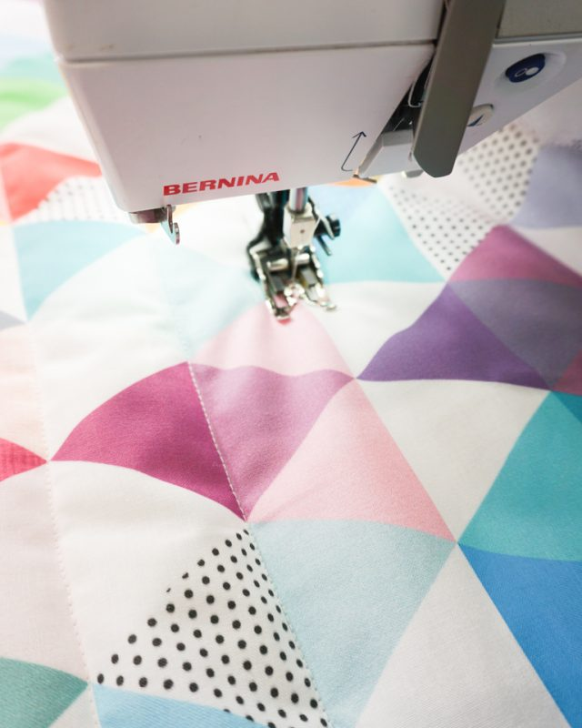sew with a walking foot along the lines